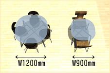 丸テーブル サイズ画像