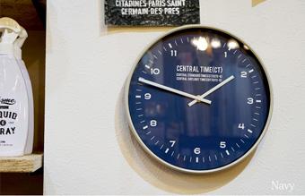 Central Time掛時計 ブラック CL-1479BK