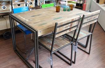 フェルム インダストリアル ダイニング テーブル 1500