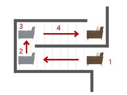 階段からの搬入方法