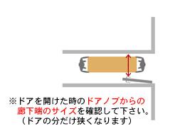 玄関扉から設置場所への経路